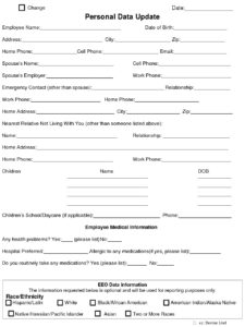 personal data form